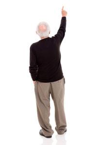 senior pointing